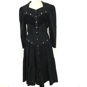 80s LILIA SMITTY Cowgirl Dress Western Square Danc